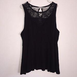 Torrid Black Lace Top XXXL
